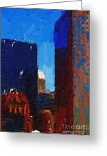 Big City Greeting Card by Wingsdomain Art and Photography