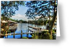 Big Daddys Harbor Greeting Card by Michael Thomas
