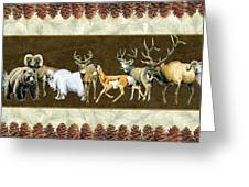 Big Game Lodge Greeting Card by JQ Licensing
