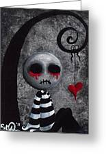 Big Juicy Tears Of Blood And Pain 2 Greeting Card by Oddball Art Co by Lizzy Love
