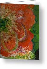 Big Orange Flower  Greeting Card by Anne-Elizabeth Whiteway