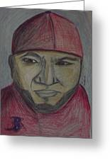 Big Papi Greeting Card by Rebecca Bell
