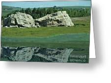 Big Rock Reflection Greeting Card by Al Bourassa