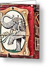 Big Top Elephants Greeting Card by Kristin Elmquist
