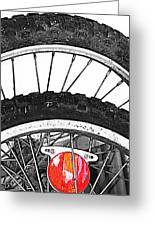 Big Wheels Keep On Turning Greeting Card by JC Photography and Art