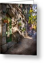 Bike - Ny - Greenwich Village - The Green District Greeting Card by Mike Savad