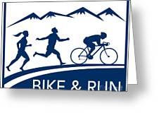 Bike Cycle Run Race Greeting Card by Aloysius Patrimonio