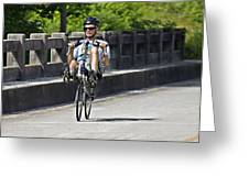 Bike Ride Across Georgia Greeting Card by Susan Leggett