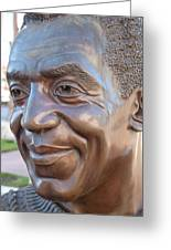 Bill Cosby Bust I Greeting Card by Jeff Lowe