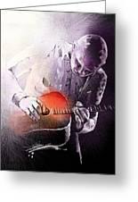 Billy Corgan Greeting Card by Miki De Goodaboom