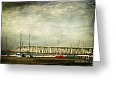 Biloxi Bay Bridge Greeting Card by Joan McCool