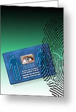 Biometric Id Card Greeting Card by Victor Habbick Visions