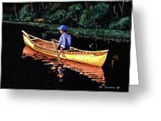 Birch-bark Canoe Greeting Card by Edward Coumou