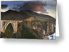 Bixby Bridge Sunset Greeting Card by Joe  Palermo