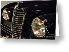Black 1948 Delahaye . Grille View Greeting Card by Wingsdomain Art and Photography