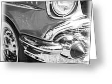 Black and White 1957 Chevy Greeting Card by Steve McKinzie