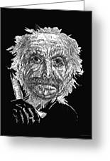 Black And White With Pen And Ink Drawing Of A Old Man  Greeting Card by Mario  Perez