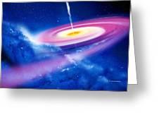 Black Hole Greeting Card by Detlev Van Ravenswaay