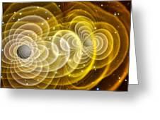 Black Holes Merging Greeting Card by Chris Henzenasa