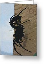Black Widow Spider Art Greeting Card by Karon Melillo DeVega