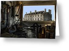 Blacksmith Shed Greeting Card by Peter Chilelli