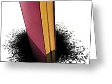 Bleading book Greeting Card by Carlos Caetano