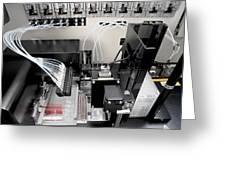 Blood Analysis Machine Greeting Card by Tek Image