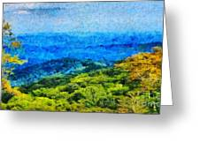 Blowing Rock Nc View Greeting Card by Elizabeth Coats