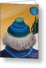 Blue Above 2 Greeting Card by Beverly Livingstone