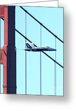 Blue Angels Crossing The Golden Gate Bridge 5 Greeting Card by Wingsdomain Art and Photography