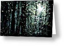 Blue Burns The Twilight Greeting Card by Rebecca Sherman