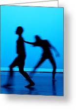 Blue Dancers Greeting Card by Kenneth Mucke