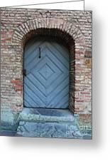 Blue Door Greeting Card by Carol Groenen