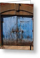 Blue Doors Greeting Card by Bob Whitt