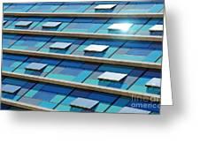 Blue Facade Greeting Card by Carlos Caetano