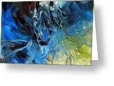 Blue Ghost  Equine Art Original Oil Greeting Card by Marcia Baldwin