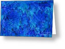 Blue Glass - Abstract Art Greeting Card by Carol Groenen