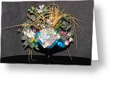 Blue Glass Arrangement Greeting Card by HollyWood Creation By linda zanini