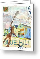 Blue Hill Village Greeting Card by Ernestine Grindal