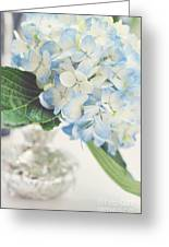 Blue Hydrangea Greeting Card by Tamara Adams