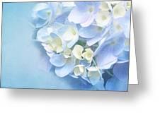 Blue Hydrangea Greeting Card by Viaina