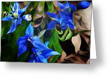 Blue Manipulation Greeting Card by David Lane