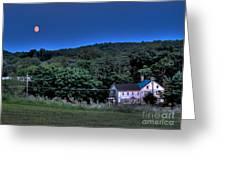Blue Moon Greeting Card by Guy Harnett