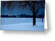 Blue Morning At Argyle Greeting Card by Vicki Jauron