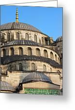 Blue Mosque Domes Greeting Card by Artur Bogacki