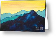Blue Mountain II Greeting Card by Silvie Kendall