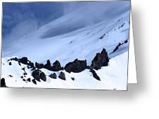Blue Mountain Winds Greeting Card by Tap  On Photo