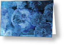 Blue Muted Memories Greeting Card by Anne-Elizabeth Whiteway