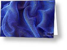Blue Net Background Greeting Card by Carlos Caetano