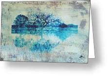 Blue On Blue Greeting Card by Ann Powell